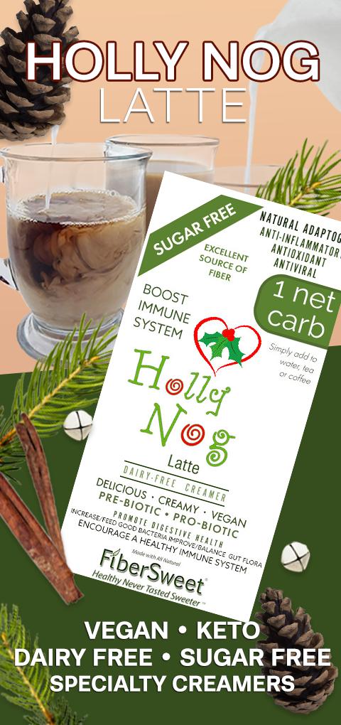 Holly Nog Latte VEGAN KETO Sugar-Free Dairy-Free